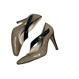 REISS High Heels  Strap Snap Patent Leather Point